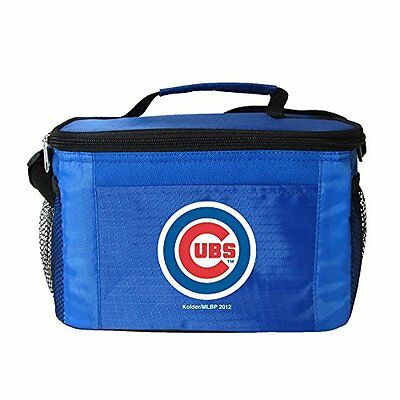 MLB Chicago Cubs Insulated Lunch Cooler Bag with Zipper Clos