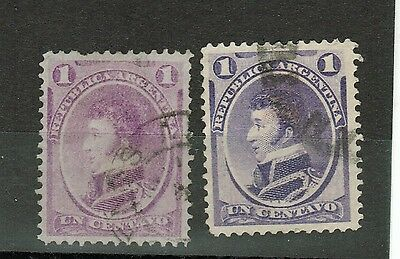 (1867)  GJ.35-35A 1c purple & violet. Used. Very good condition.