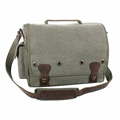 Rothco Canvas Trailblazer Laptop Bag-Od/Leather