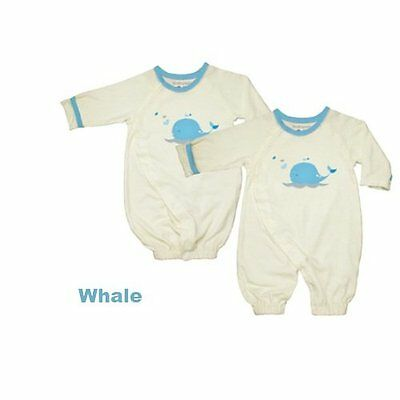 Babysoy Baby Boys' O Soy Convertible Bundler - Whale - 0-3 Months