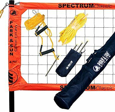 Park & Sun Spectrum Classic Orange Volleyball Net