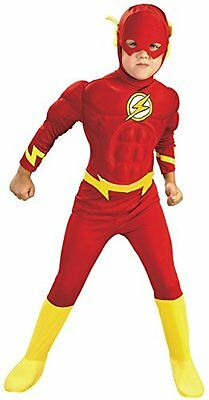 Rubies DC Comics Deluxe Muscle Chest The Flash Costume, Toddler