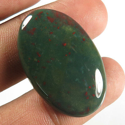 37.50 Cts. Natural Royal BLOODSTONE Good Quality Gemstone Oval Cabochon 33x21 mm