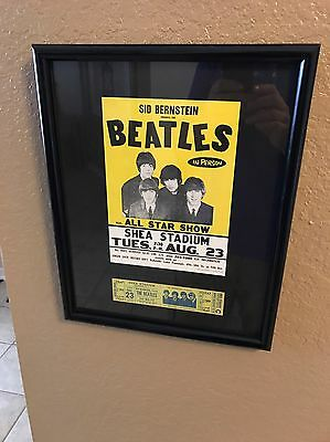 The Beatles Original Unused Ticket Shea Stadium 1966 Upper Reserved