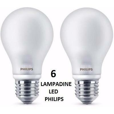929001156434 Philips Kit 6 Lampadine Led 7 W (60 W), E27, Bianco caldo lampadin