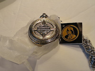 Franklin Mint Harley Davidson Badge of Honor Pocket Watch Collectable w/COA NEW