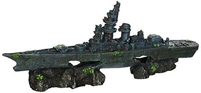 Penn Plax Battleship Aquarium Fish Tank Decoration