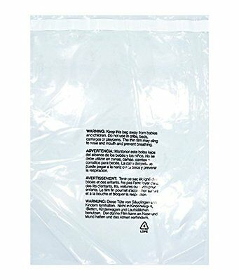 100ea 14 x 20 inch Easy Peel and Stick Clear 1.5 mil Self Seal Poly Bags wi