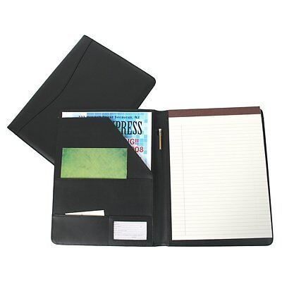 Royce Leather Portfolio Padfolio, with Inserted Note Pad and Folder
