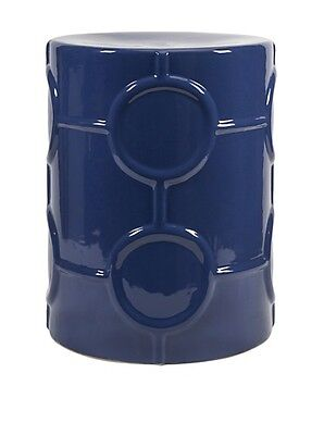 IMAX 25257 Essentials Garden Stool, Marine Blue