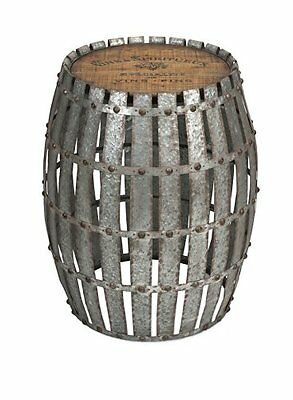 IMAX 74299 Gibbs Wood and Metal Barrel