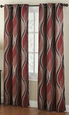 No. 918 Intersect 48 by 84-Inch Curtain Panel, Paprika