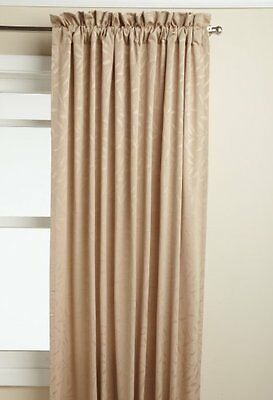Lorraine Home Fashions Whitfield 52-inch by 63-inch Window Panel, Latte