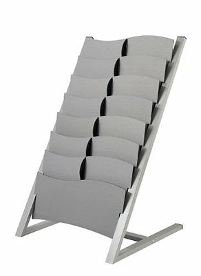PaperFlow Multi-Sized 7 Compartment Floor Literature Display, Single Sided,
