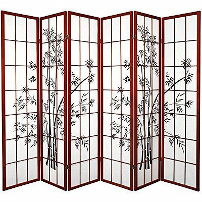 Oriental Furniture 6-Feet Japanese Style Lucky Bamboo Rice Paper Room Divid