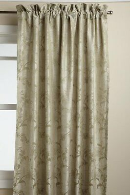 Lorraine Home Fashions Floral Lustre 52-inch x 63-inch Tailored Panel, Sage