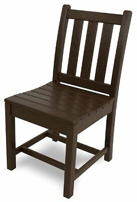 POLYWOOD TGD100MA Traditional Garden Dining Side Chair, Mahogany