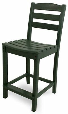 POLYWOOD TD101GR La Casa Café Counter Side Chair, Green