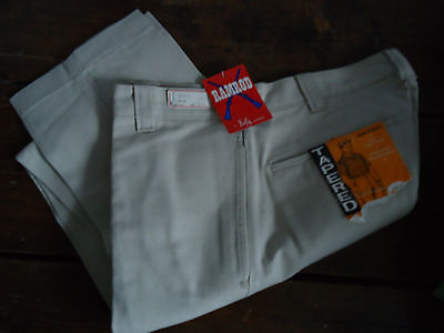 NOS TEEN 60s VTG TAPERED  IVY PREPPY COTTON TWILL CHINOS PANTS 29x29 USA
