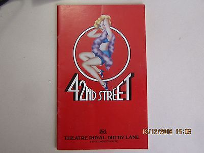 42nd STREET PROGRAM (THEATRE ROYAL LONDON)