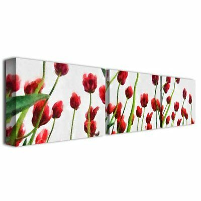 Trademark Fine Art Red Tulips from Bottom Up by Michelle Calkins Canvas Wal