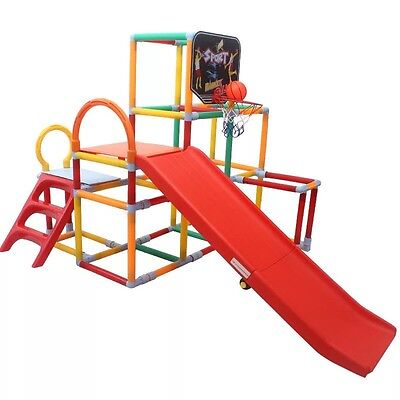 Indoor Slide With Climbing Frame And Mini Basketball Frame