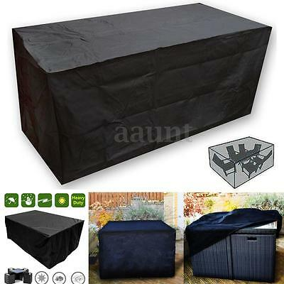 Black Waterproof Rattan Cube Outdoor Garden Patio Furniture Set Cover Protection
