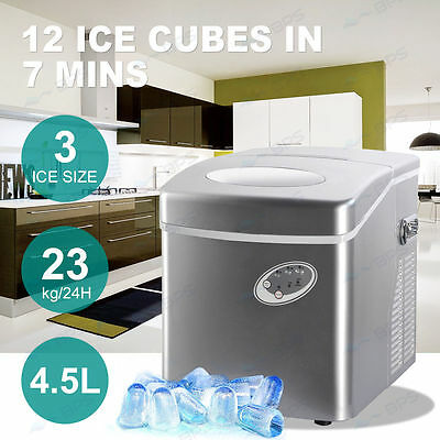 NEW Portable Ice Cube Maker Machine 4.5L Automatic Quick Home Fast Tray