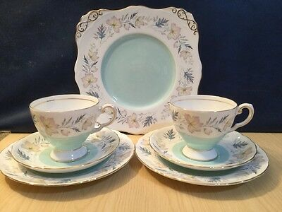 Royal Tuscan Arundel Part China Tea Set Cake Plate, Pair Trios Parties Weddings