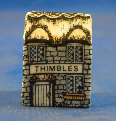 Birchcroft Miniature House Shaped Thimble -- Thimbles House