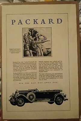 1929 Packard 645 Deluxe 8 Automobile Car ad
