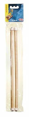 Living World 12-Inch Wooden Perch, 2-Pack
