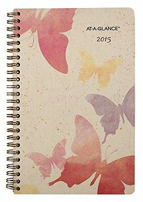 AT-A-GLANCE Weekly and Monthly Planner 2015, Watercolors, Wirebound, 5.5 x