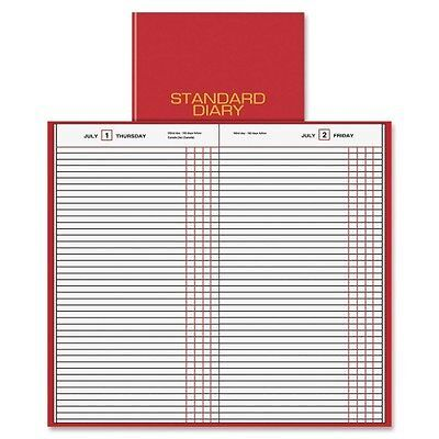 AT-A-GLANCEamp;reg; - Standard Diary Recycled Daily Journal, Red, 7 11/16am