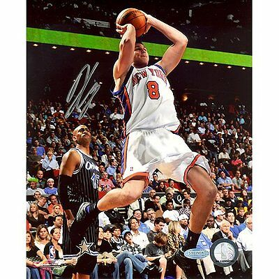 Steiner Sports NBA Danilo Gallinari Knicks White Jersey Shot in Mid Air Vs