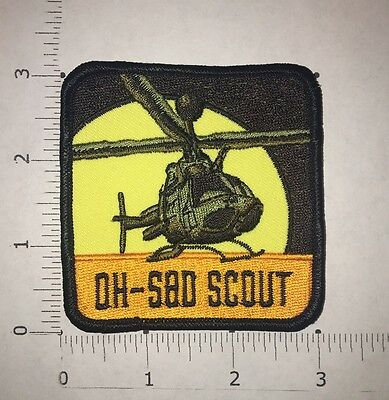 OH-58D Helicopter Patch - Bell OH-58D Kiowa Warrior - US Army Helicopter