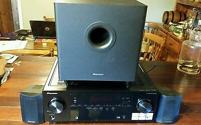 Pioneer av receiver amplifier/sub woofer and surround speakers