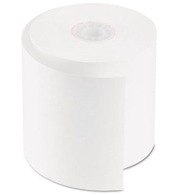 """PM Company® - Single-Ply Cash Register/POS Rolls, 2-3/4"""" x 150 ft., Whit"""