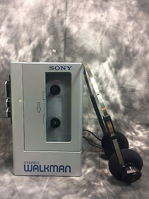 Vintage Sony Walkman WM4 Stereo Cassette Player & Headphones Excellent Tested