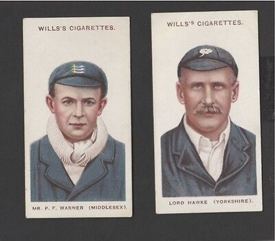 2 x CRICKETERS (No's 2 & 15) – WILLS – 1908
