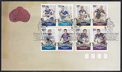 AUSTRALIA 2008 FDC x 2 Centenary of Rugby League