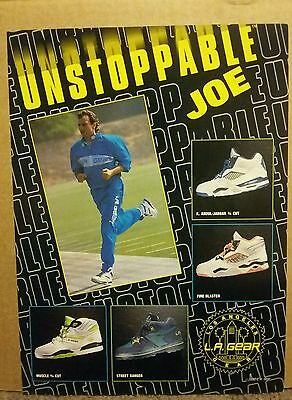 1990 L.A. LA Gear Shoe Ad Unstoppable Joe Montana Football