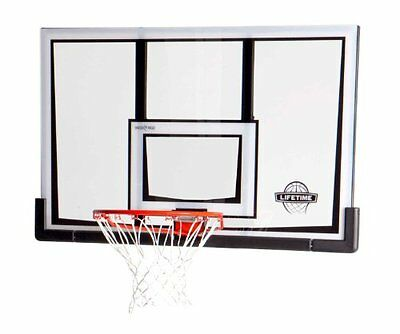 Lifetime Shatter Proof Backboard and Rim Combo Kit, 52-Inch