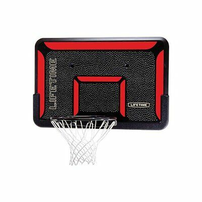 Lifetime 3823 Rectangular Impact Basketball 44-Inch Backboard and Rim Combo