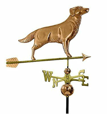 Good Directions 644PA Golden Retriever Weathervane with Arrow, Polished Cop