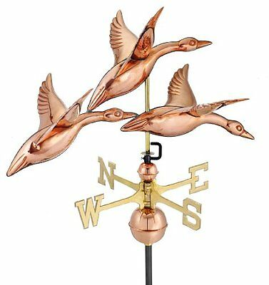 Good Directions 657P 3 Geese in Flight Weathervane, 28-Inch, Polished Coppe