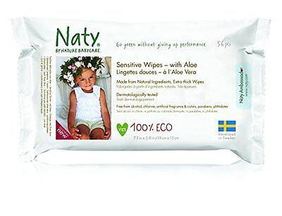 Nature Babycare Eco Sensitive Wipes with Aloe, Fragrance-Free, 672 Count