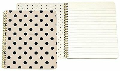 kate spade new york Large Spiral Notebook, Black/Deco Dots (So Well Compose