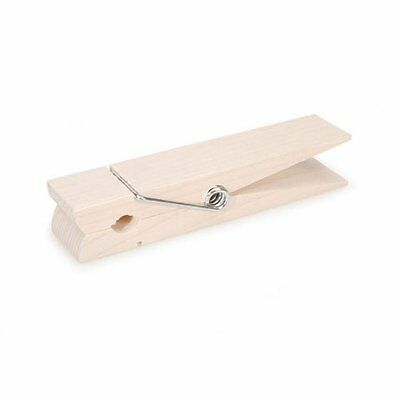 Bulk Buy: Darice DIY Crafts Clothespin Spring Natural Jumbo 6 inches (6-Pac