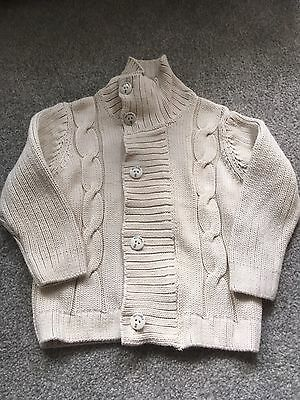 VGC Boys NEXT Cable Knit Cardigan 4years